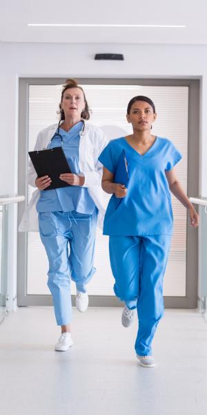 Nurses are busy