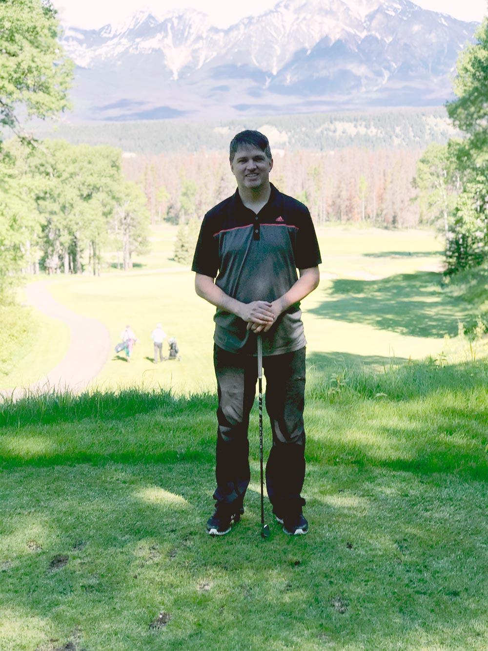 Trevor Golfing